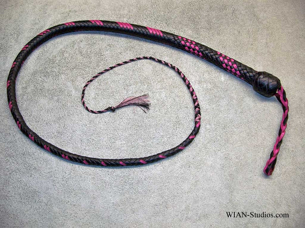 Signal Whip, Black with Pink accents, 3'