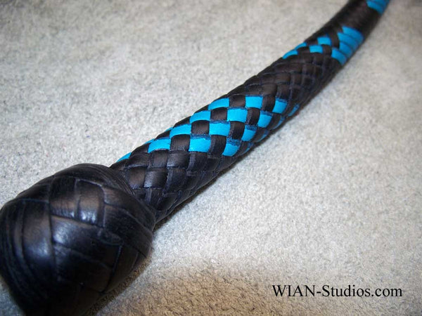 Signal Whip, Black and Turquoise, 3'