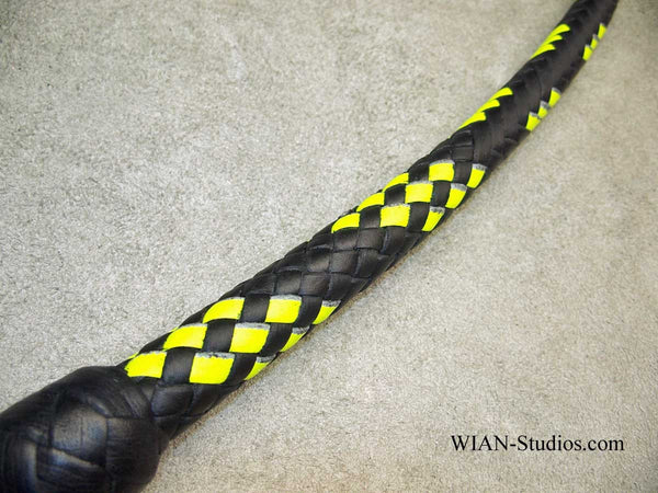 Signal Whip, Black and Yellow, 3'