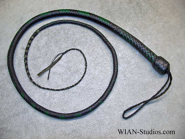 Signal Whip, Black and Green, 4'