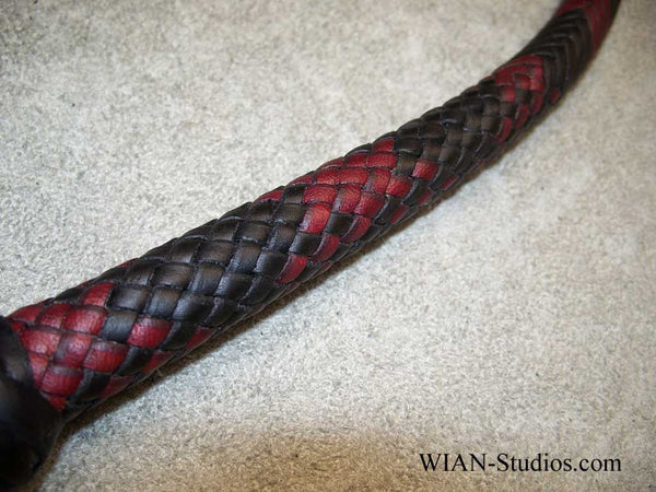 Signal Whip, Black with Burgundy accents, 3.5'