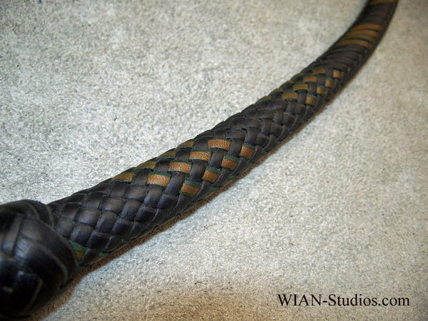 Signal Whip, Black with Bronze/Green accents, 4'