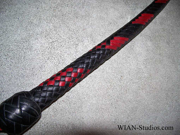Signal Whip, Black with Red Accents, 3'
