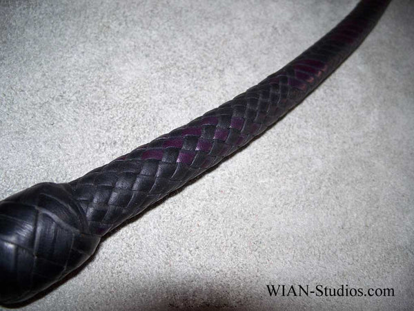 Signal Whip, Black with Dark Purple accents, 3.5'
