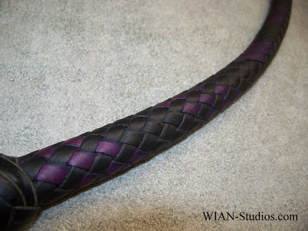 Signal Whip, Black with Purple Accents, 3'