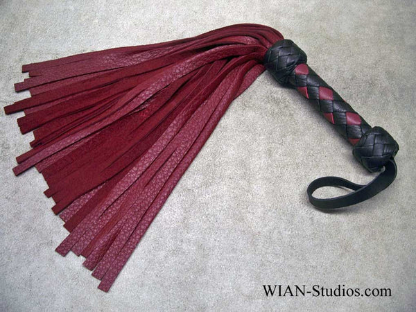 Burgundy Wine Elk Flogger, Small