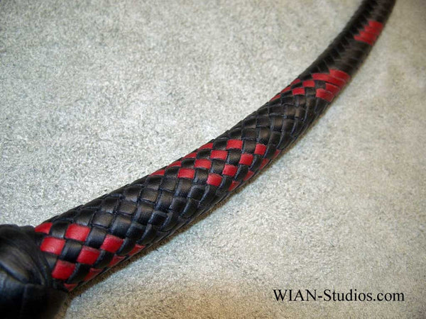 Snake Whip, Black with Red Accents, 3'