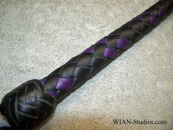 Snake Whip, Black with Purple Accents, 2.5'