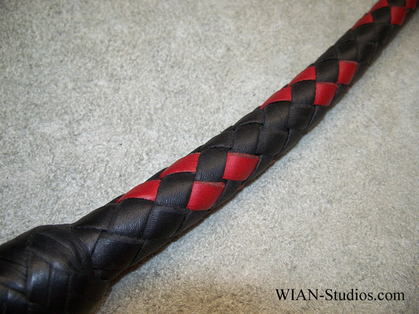 Snake Whip, Black with Red Accents, 2.5'