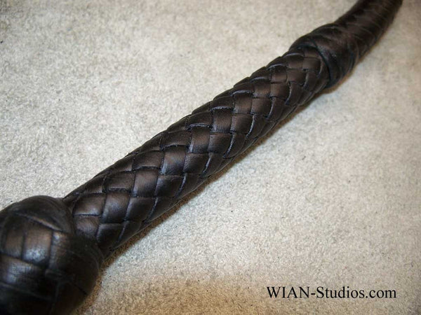Target Whip, All Black, 4'