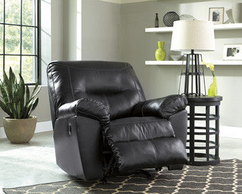 Kilzer Durablend Rocker Recliner - Black
