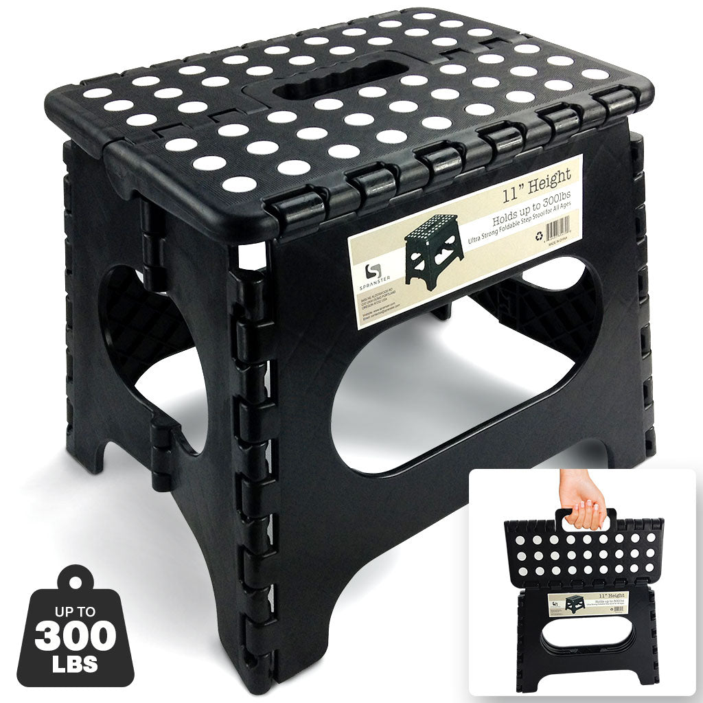 Awesome Super Strong Folding Step Stool Black Up To