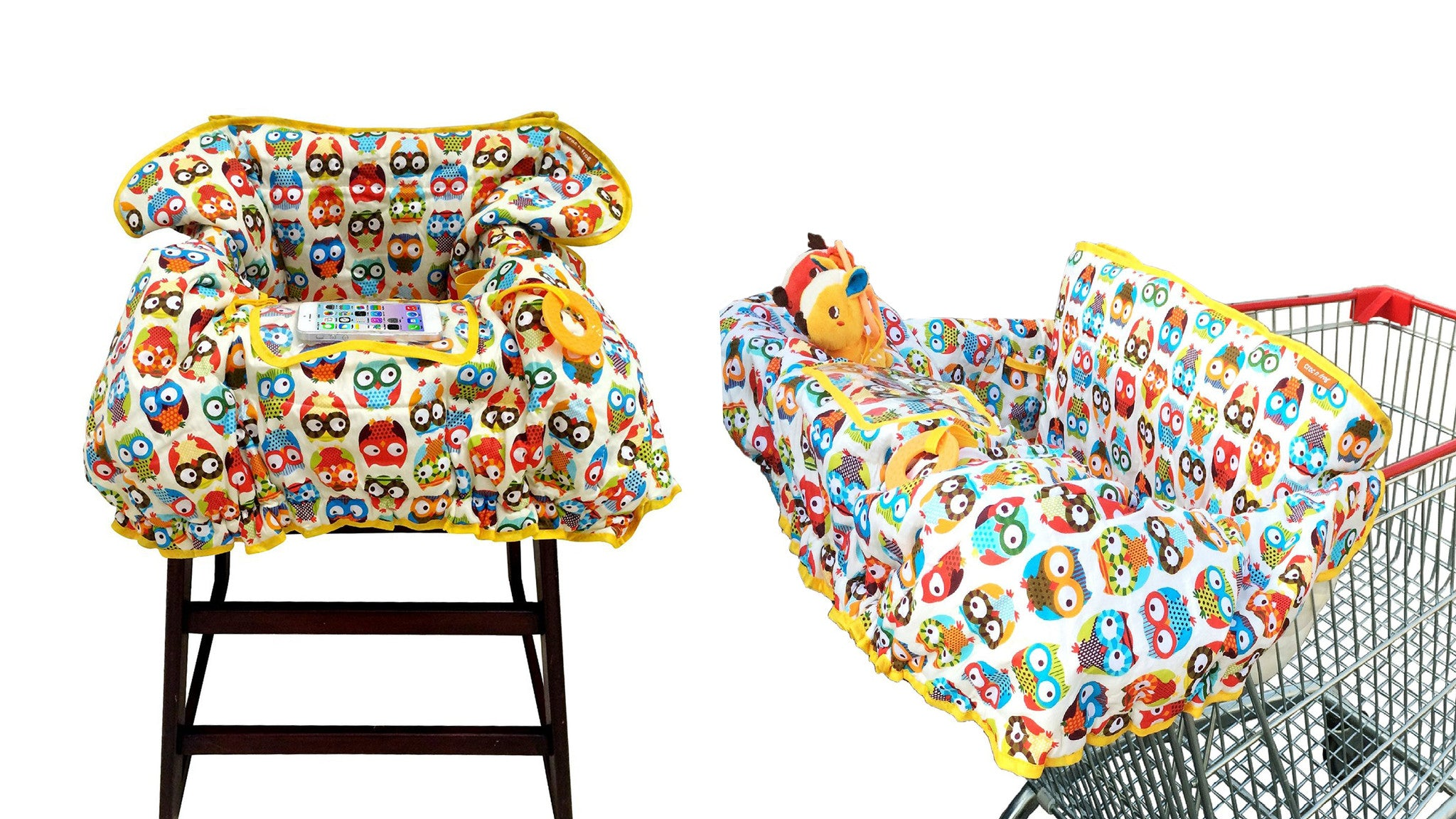 Evenflo expressions high chair zoo friends - Baby Shopping Cart Cover 2in1 High Chair Cover Large
