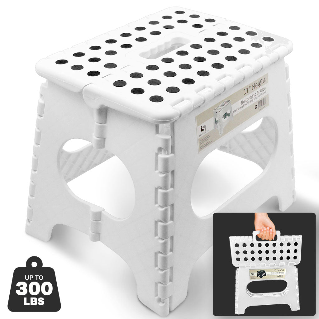 Awesome Super Strong Folding Step Stool White Up To