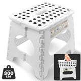 Awesome Super Strong Folding Step Stool - White - Up to 300 Lbs