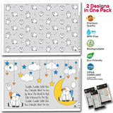 Designer Disposable Placemats, 60 Counts (3 Bags of 20), 2 Designs in 1 bag