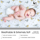 Comfy 100% Cotton Muslin Swaddle Blanket- 1 Pack- Birdy