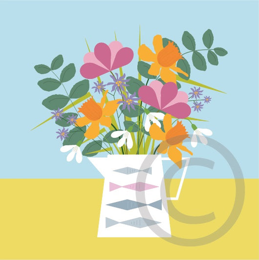 Spring Flowers card