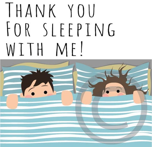 Thank You for Sleeping with Me card