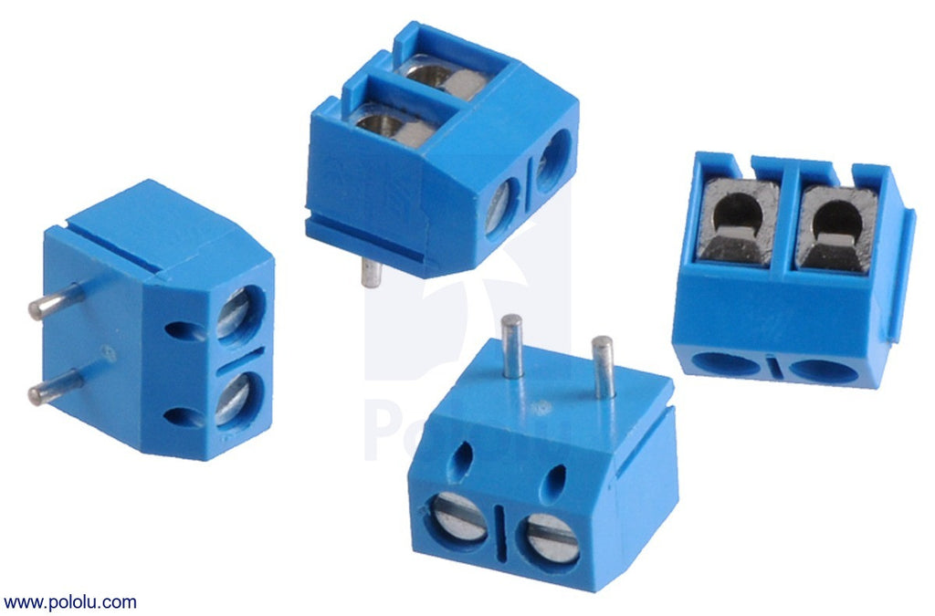 Bloque Terminales con Pitch 2.54mm (2-Pin) (Azul)