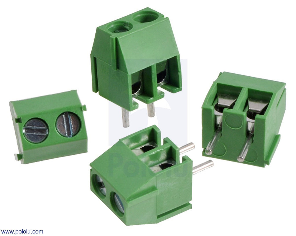 Bloque Terminales con Pitch 5.08mm (2-Pin) (Verde)