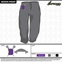 (BYL) Bourne Youth Lacrosse - Unisex Sweatpants