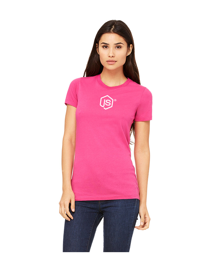 Women's JS Fine Jersey Tee in Berry