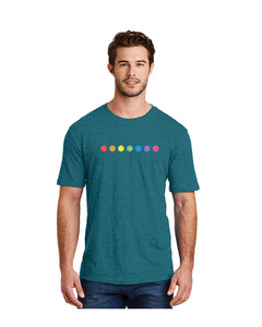 Unisex Node.js Pride Tee in Heathered Teal