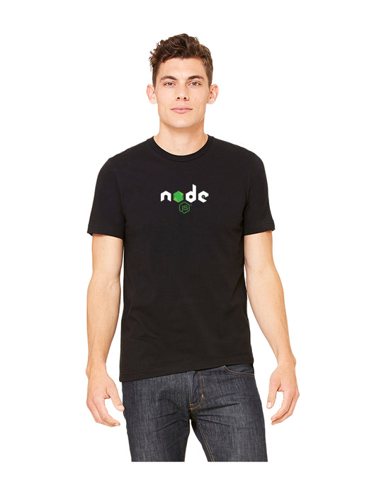 Men's Node.js Basic Fine Jersey Tee in Black