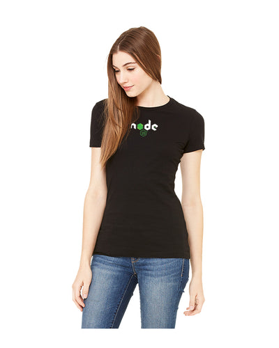 Women's Node.js Basic Fine Jersey Tee in Black