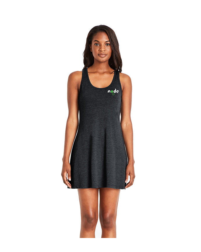 Next Level Triblend Racerback Tank Dress in Vintage Black
