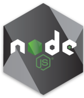 Node.js Hex Decal in Grey