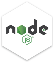 Node.js Hex Decal in Clear