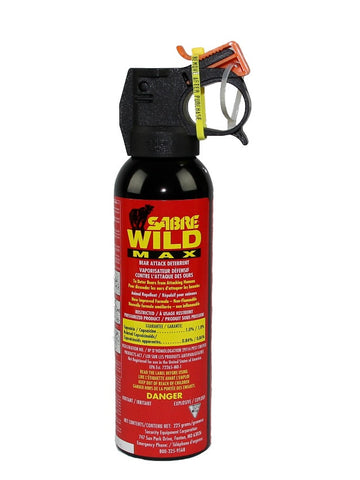 Sabre Bear Spray Wild MAX 1% with Orange Safety Wedge (225g bottle) - Frankensled Inc.