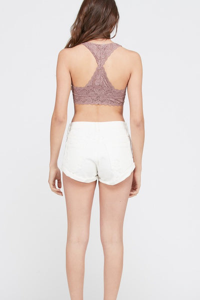 Scalloped Racerback Padded Lace Bralette