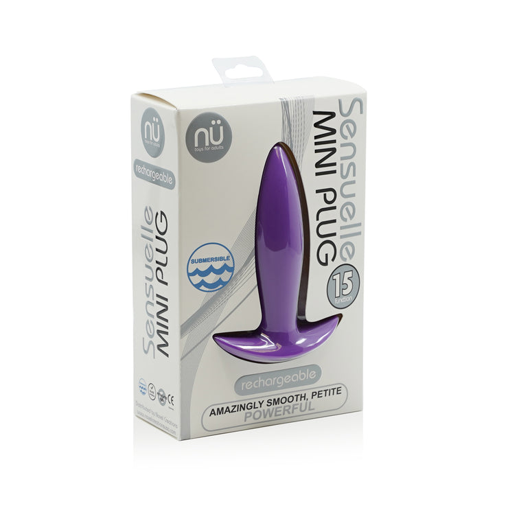 "<span class=""nu"">nü</span><span class=""sensuelle""> Sensuelle</span></br> 15-Function Vibrating Mini-Plug"
