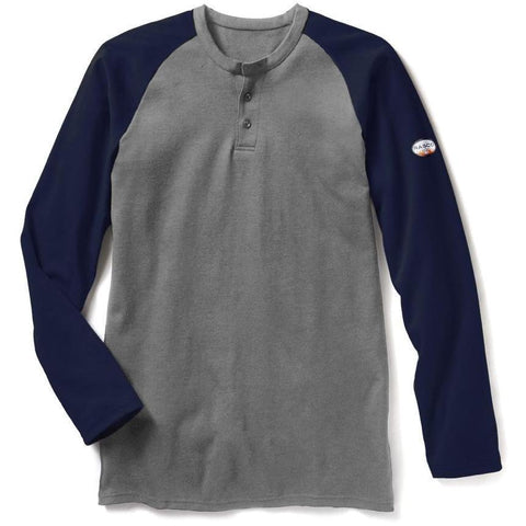 cc3bfd34d431 Rasco FR Navy   Gray Two Tone Henley
