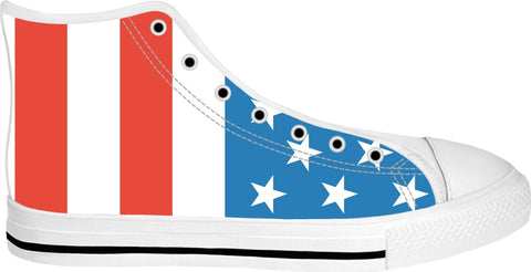 American Flag High Top Shoes