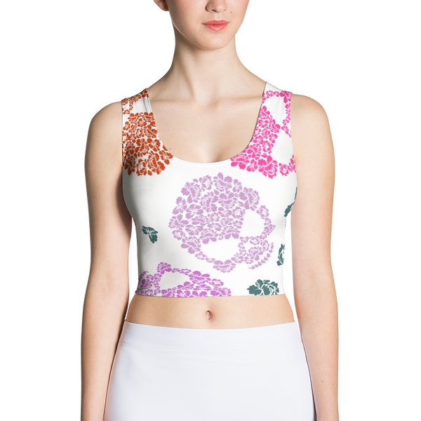 Sugar Skull  Crop Top