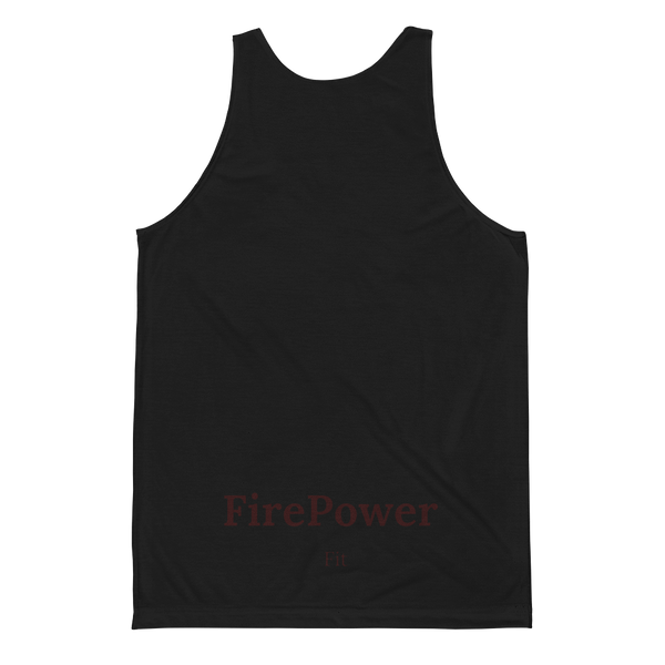 Unisex Black FirePower Fit Classic Fit Tank Top