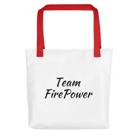 Team FirePower Tote bag