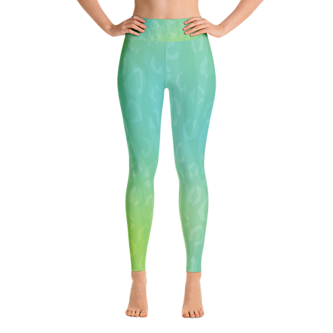 Green Animal Print Yoga Leggings