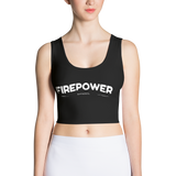 Black FirePower Apparel Crop Top