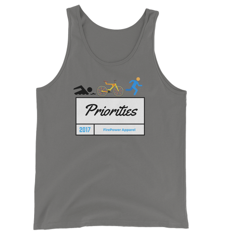 Triathlete Priorities Unisex Tank Top