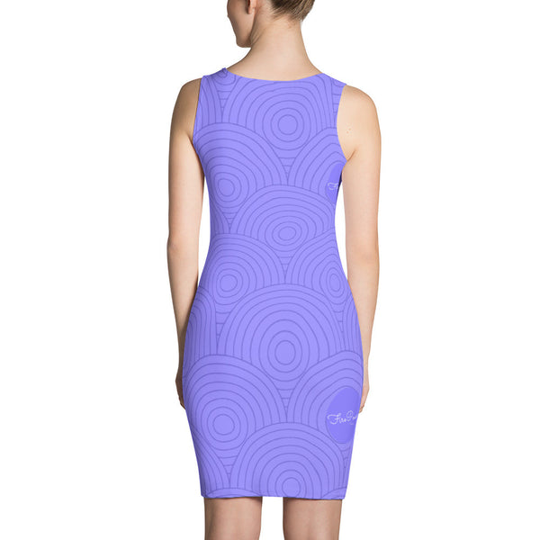 Purple Geometric FirePower Dress