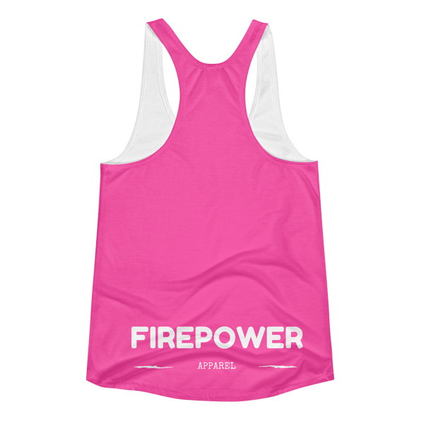 Pink FirePower Apparel Women's Racerback Tank