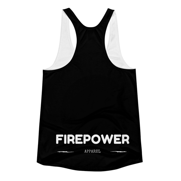 Black FirePower Apparel Women's Racerback Tank