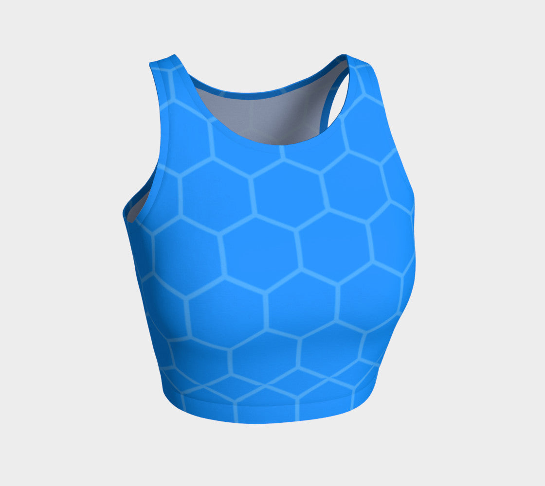 Blue Geometric FirePower Crop