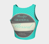Thankful Grateful Blessed Teal FirePower Crop