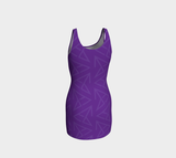 FirePower Purple LogoPrint BodyCon Dress